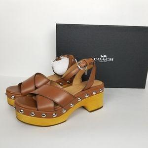 Coach astor platform sandal studded clogs